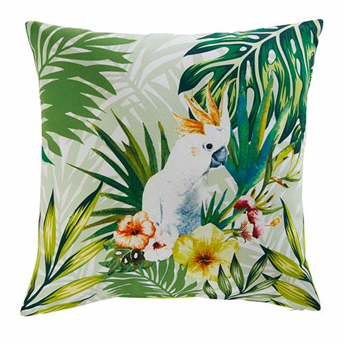 cuscino da esterni con pappagallo