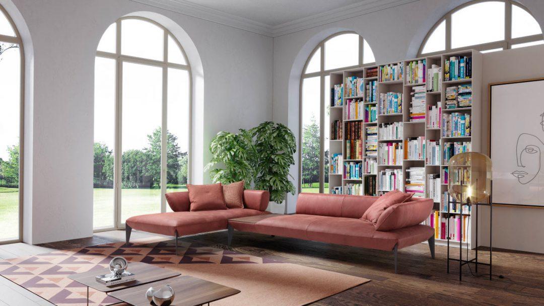 Avenue divano in pelle di design a Napoli