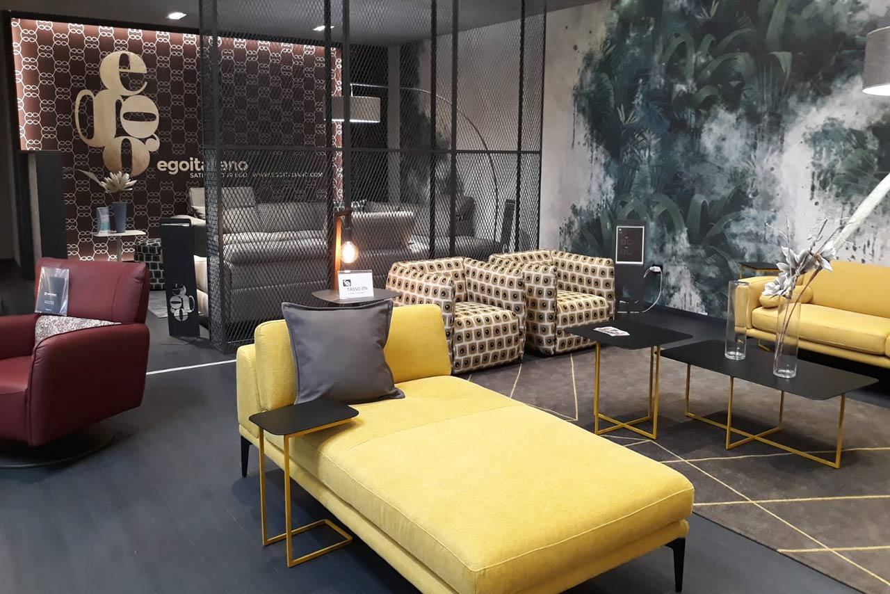 Egoitaliano divani pelle Napoli - showroom